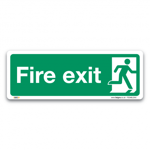 fire exit running man sign