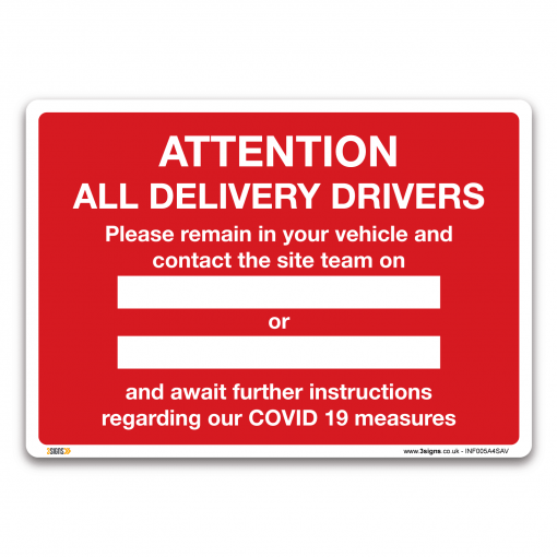 attention all delivery drivers sign