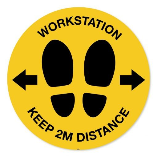 Social distancing workstation 2m sign