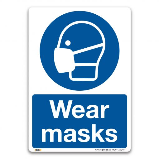 face masks must be worn in this area sign