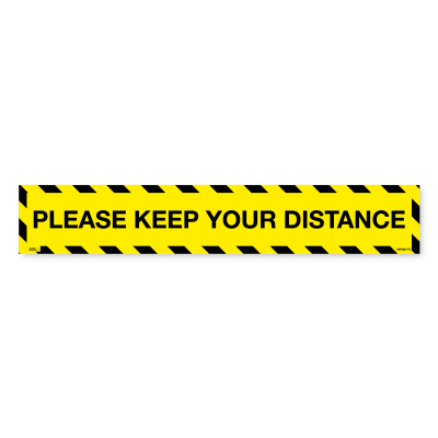 floor signs please keep your distance