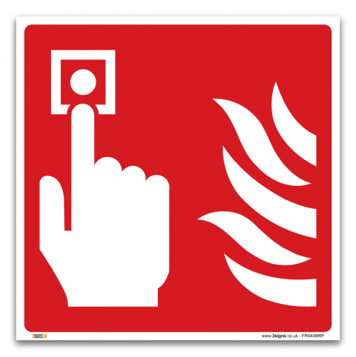 fire alarm symbol only sign