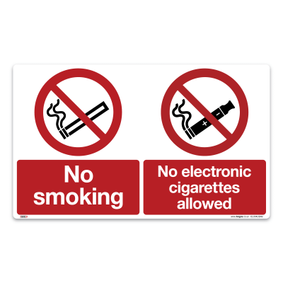 no smoking no electronic cigarettes allowed sign