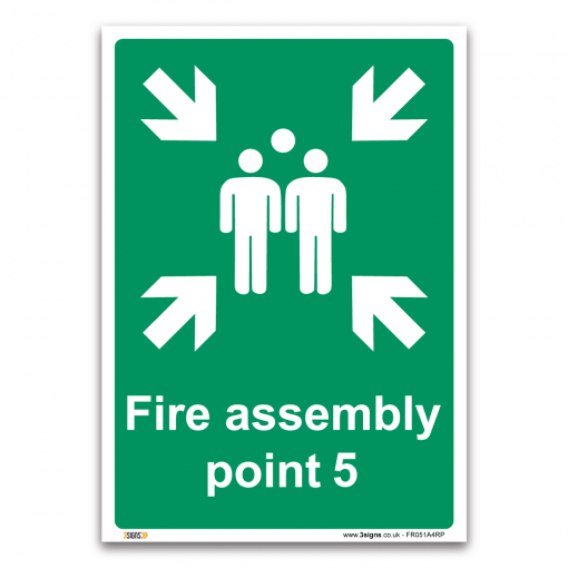 Fire assembly point 5 Sign
