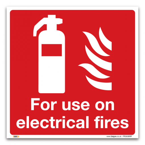 fire extinguisher of electrical fires sign