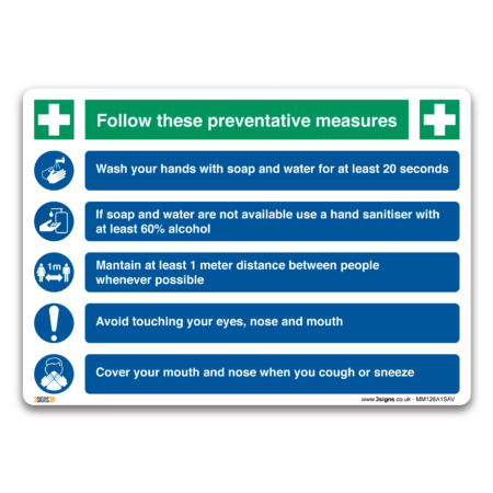 Preventive actions against germs and viruses
