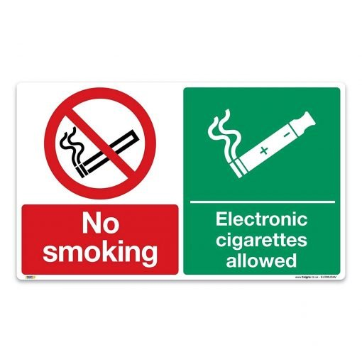 no smoking, electronic cigarettes allowed sign