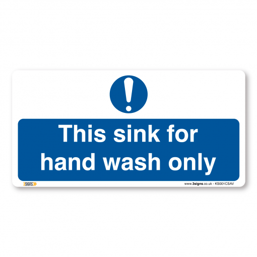 this sink for hand wash only sign